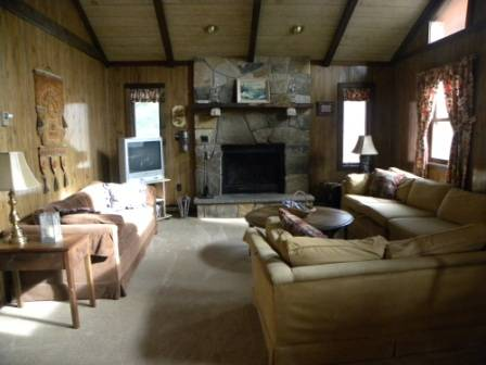 Pet-Friendly Big Bass Lake Raised Chalet: 2 Minute Walk to Outdoor Pool