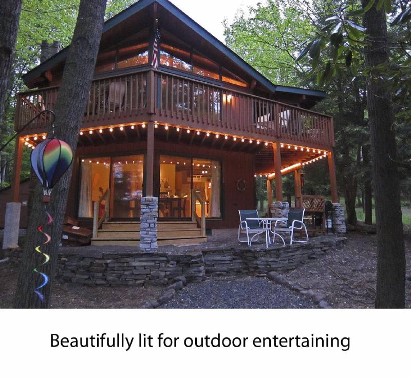 log cabin ha property k lake cabins poconos beds and wifi in private kitchen new q mountain the pool