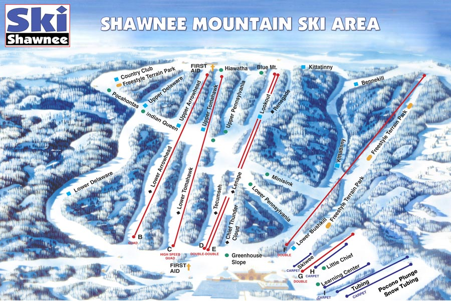 Pocono Ski Areas - Shawnee Mountain